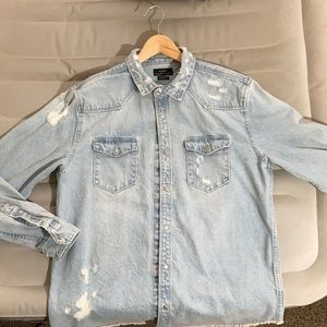 Distressed Jean Jacket (Badass) Large